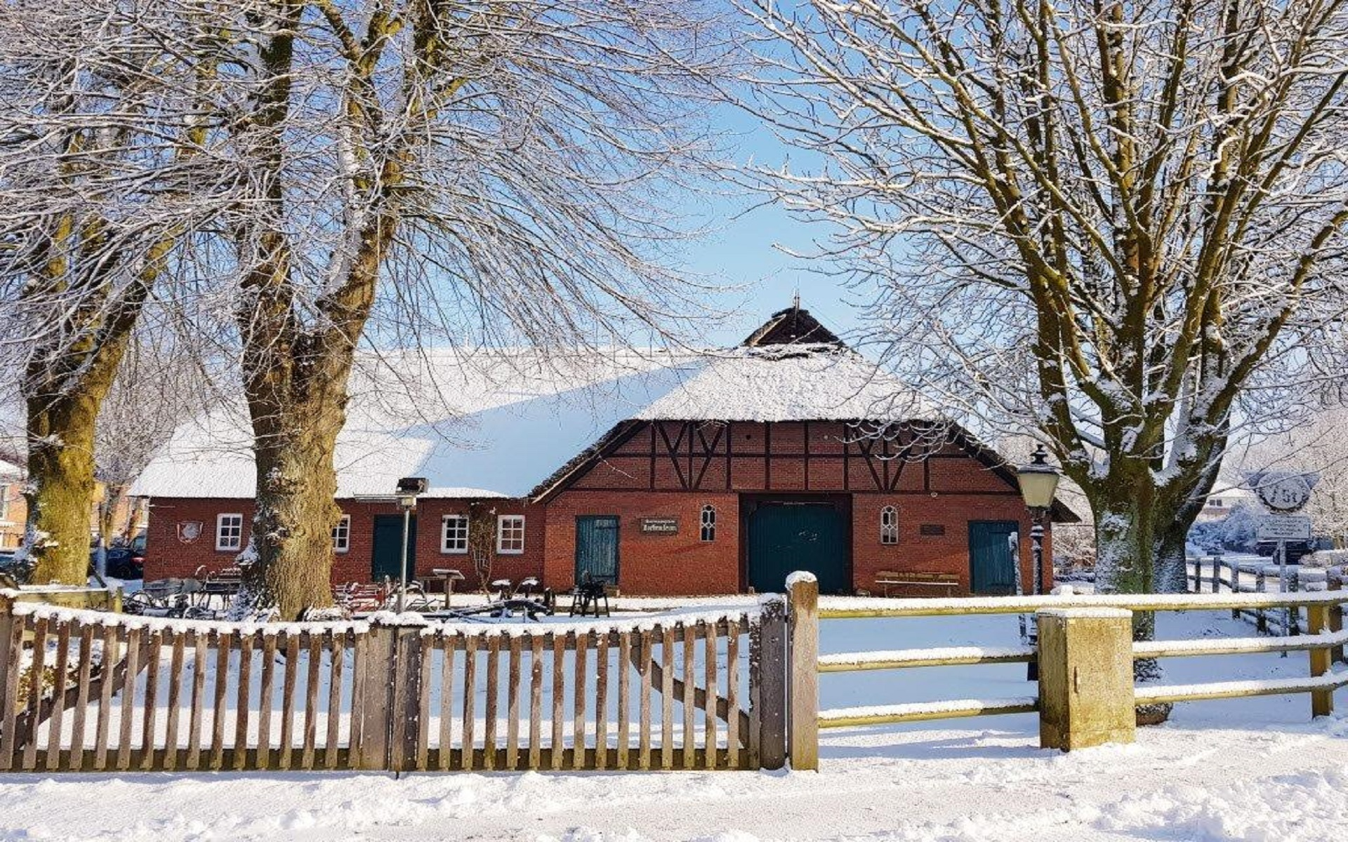 Hoisdorf Dorfmuseum im Winter